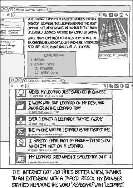 keyboard leopard comic from xkcd